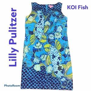 Lilly Pulitzer Koi Fish Shift Dress Size 2